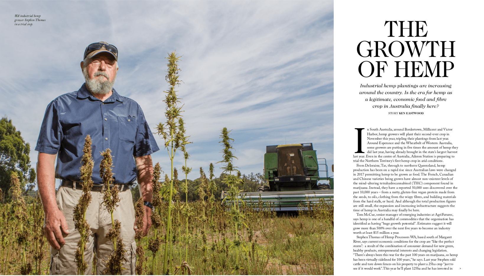 RM Williams reports on growing hemp