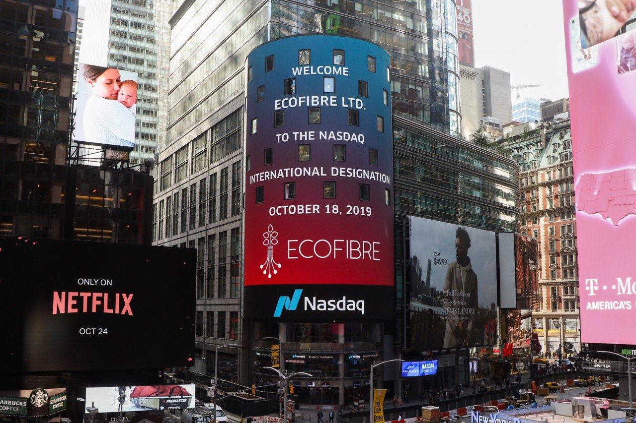Ecofibre lists on NASDAQ